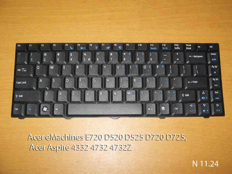 Клавиатура для ноутбука Acer eMachines E720  D520  D525   D720   D725, Acer Aspire 4332   4732   4732Z