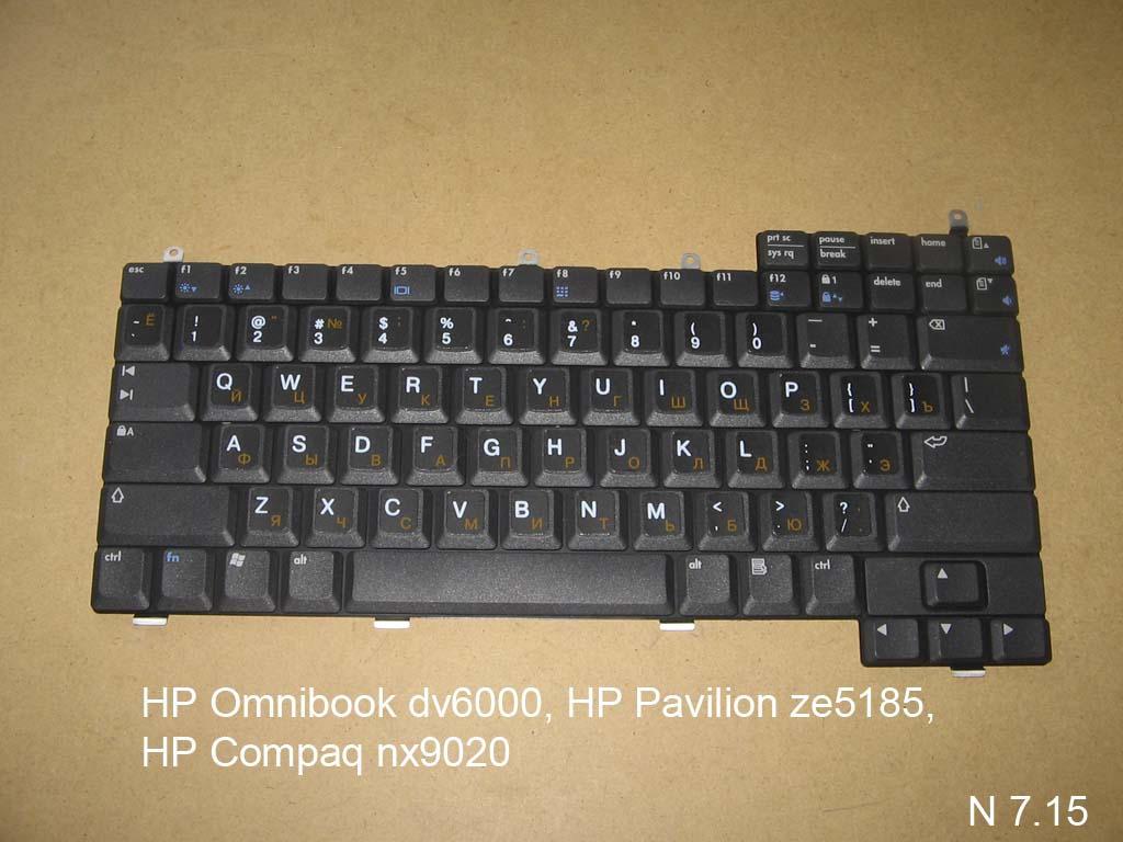 Клавиатура для ноутбука HP Omnibook dv6000, HP Pavilion ze5185, HP Compaq nx9020