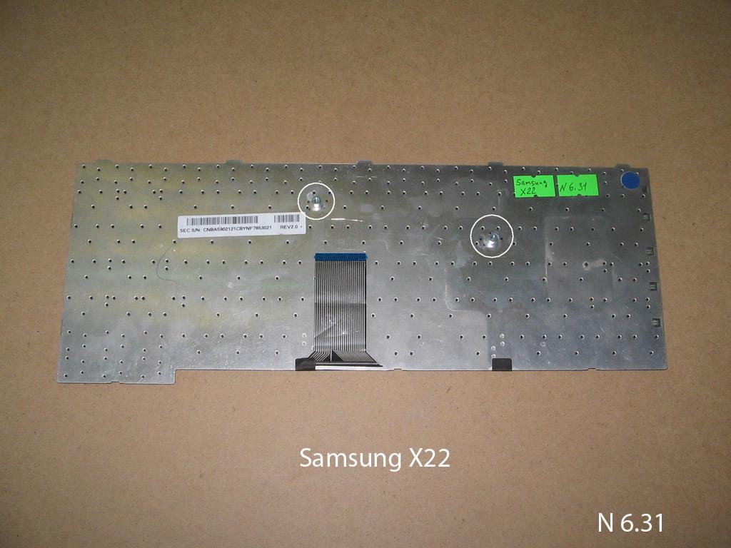 Клавиатура для ноутбука Samsung X22