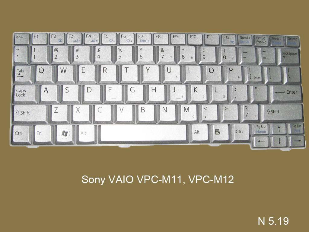Клавиатура для ноутбука Sony VAIO VPC-M11, VPC-M12