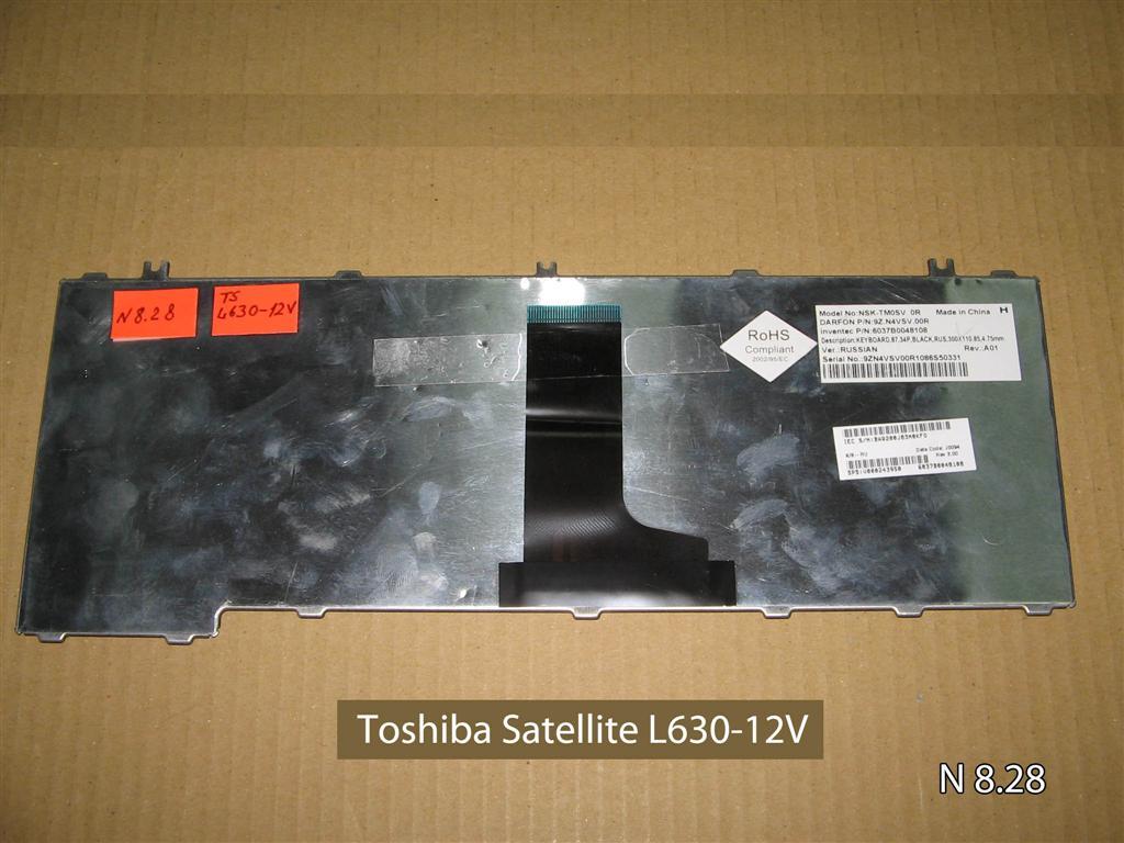 Клавиатура для ноутбука Toshiba Satellite L630-12V