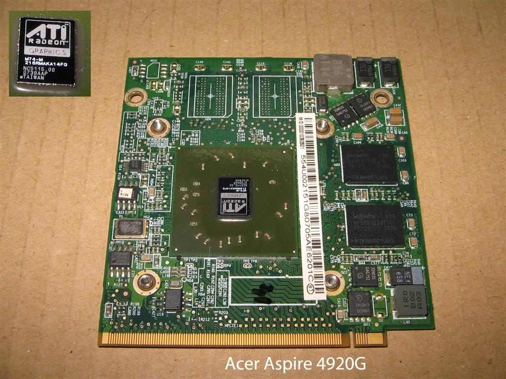 Съёмная видеокарта ATI Radeon, от ноутбука Acer Aspire 4920G.: http://www.prokomp.ru/video/video-dlya-noutbuka-Acer-Asp-4920G.php