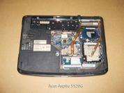 Ноутбук на запчасти  Acer-Aspire-5520. Вид снизу.УВЕЛИЧИТЬ