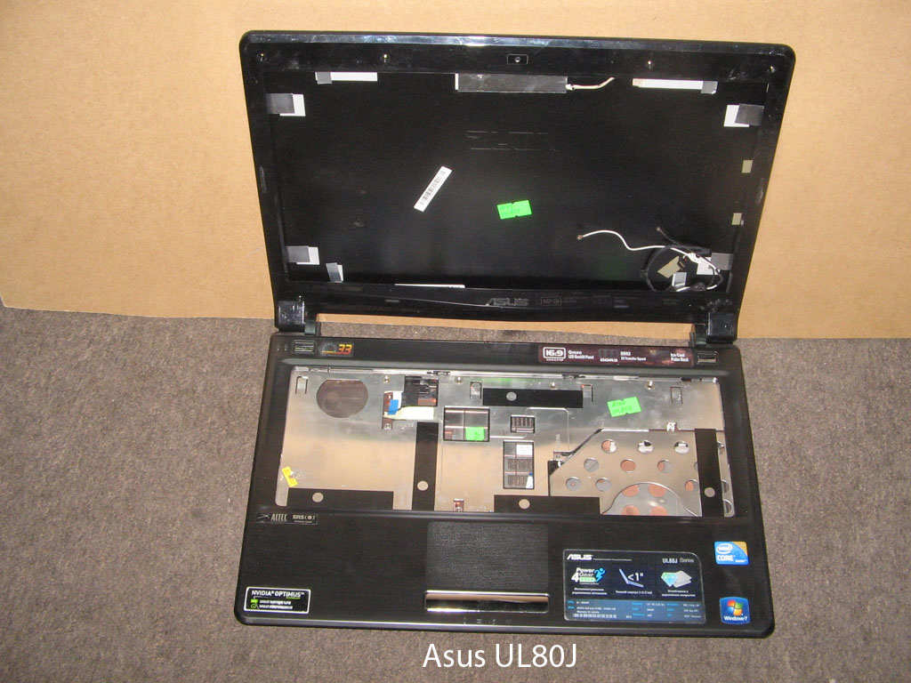 Корпус  от ноутбука Asus UL80J. УВЕЛИЧИТЬ