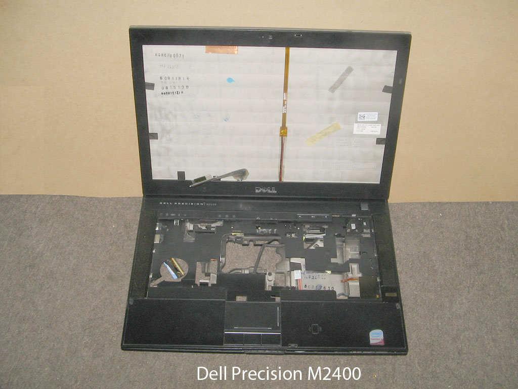 Корпус с петлями матрицы, шлейфом матрицы, антенной WiFi   от ноутбука Dell Precision M2400. УВЕЛИЧИТЬ