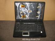 Ноутбук на запчасти  MSI-Megabook-L720. Нижняя часть.УВЕЛИЧИТЬ