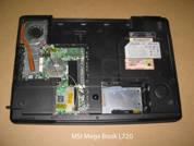 Ноутбук на запчасти  MSI-Megabook-L720. Вид снизу.УВЕЛИЧИТЬ