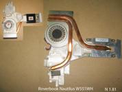Система охлаждения  от ноутбука Roverbook Nautilus W551WH. УВЕЛИЧИТЬ
