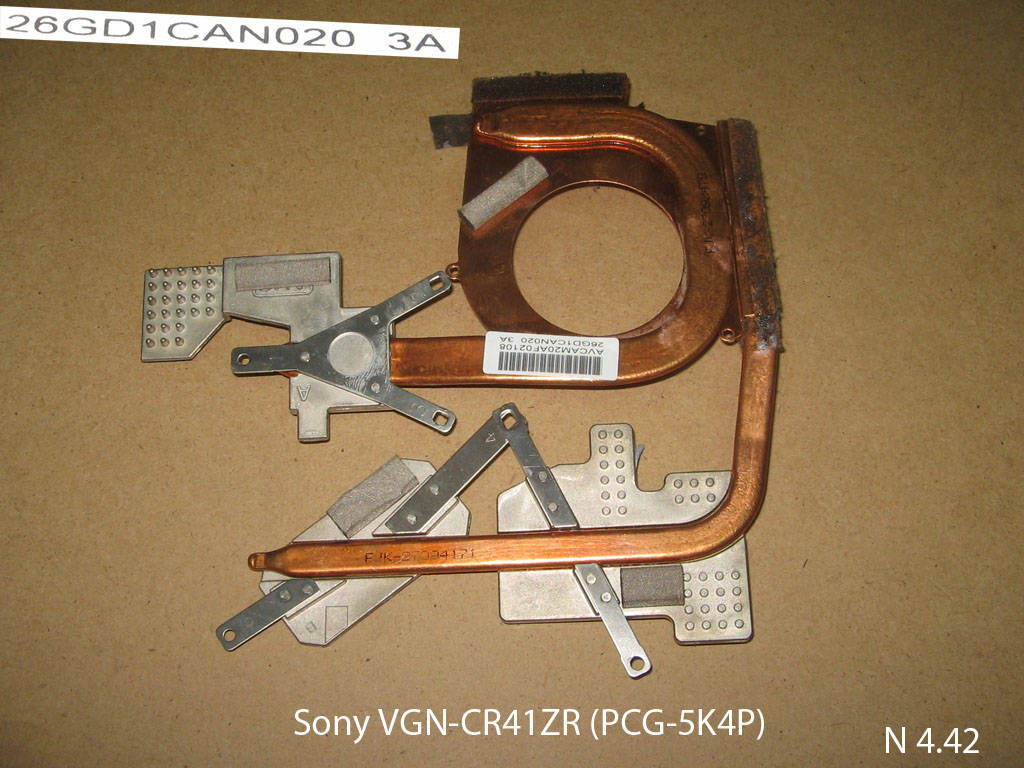 Sony VGN-CR41ZR (PCG-5K4P), Sony VAIO VGN-CR31SR № 4.42   УВЕЛИЧИТЬ