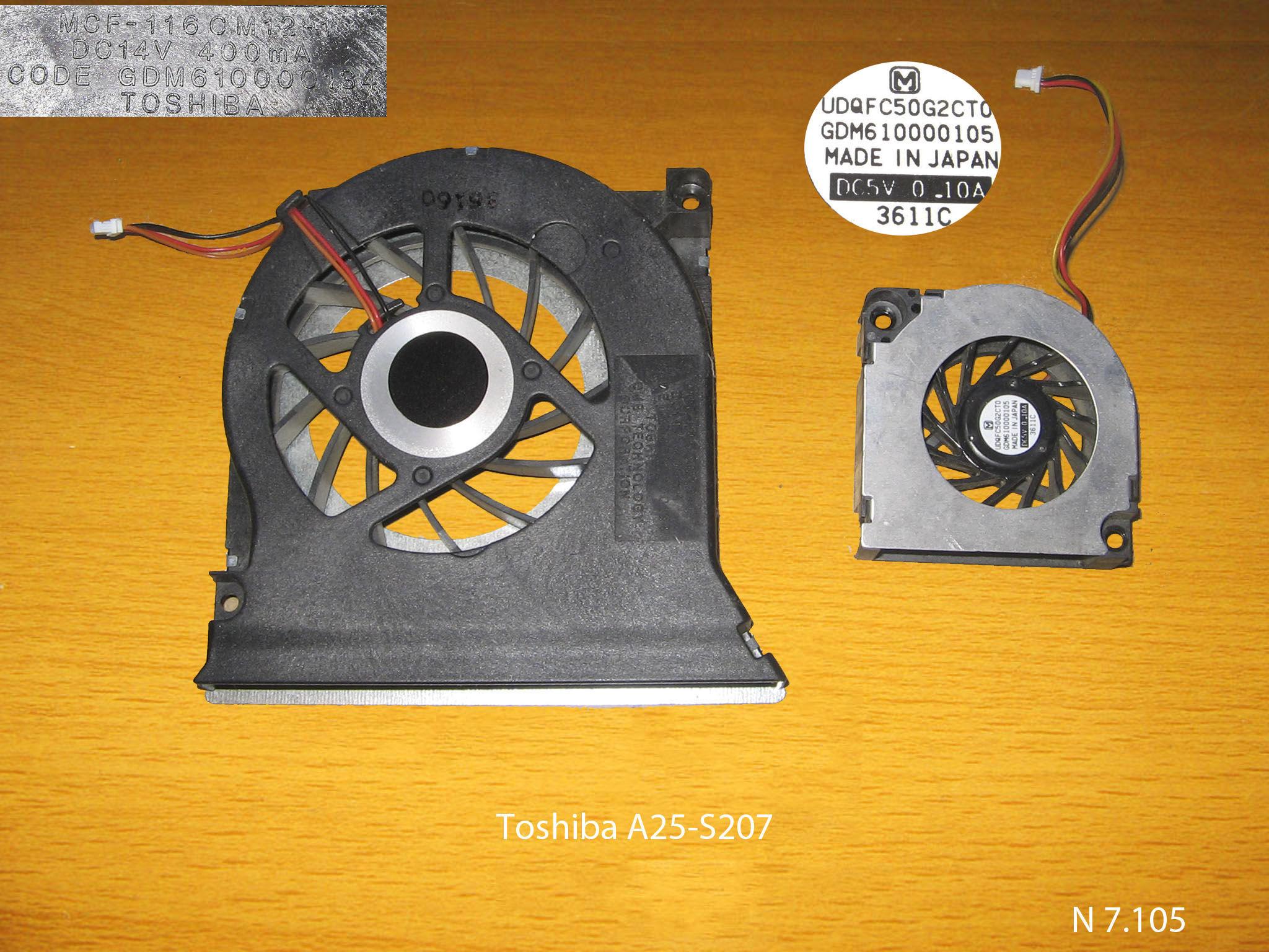 Toshiba A25-S207 № 7.105   УВЕЛИЧИТЬ