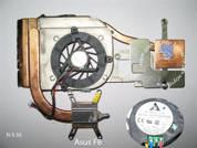 Система охлаждения  от ноутбука Asus F8. УВЕЛИЧИТЬ
