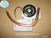 Система охлаждения  от ноутбука Fujitsu-Siemens Amilo M1420. УВЕЛИЧИТЬ