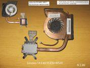Система охлаждения  от ноутбука Lenovo 14 E40 15 E50 W520. УВЕЛИЧИТЬ