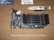 Видеокарта для настольных компьютеров  ASUS GeForce 210 (210-SL-TC1GD3-L) . УВЕЛИЧИТЬ